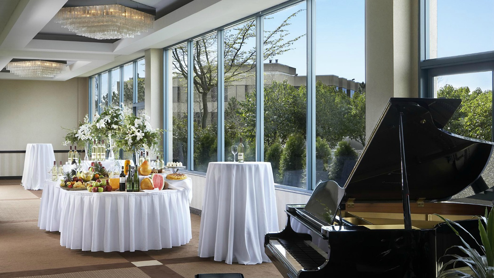Our elegant Surrey, BC wedding venue set up for a wedding reception.