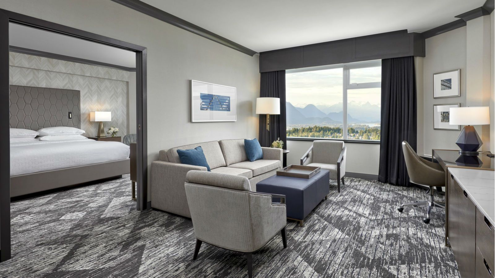 A Penthouse Suite overlooking Vancouver's mountains at the Sheraton Vancouver Guildford. 8