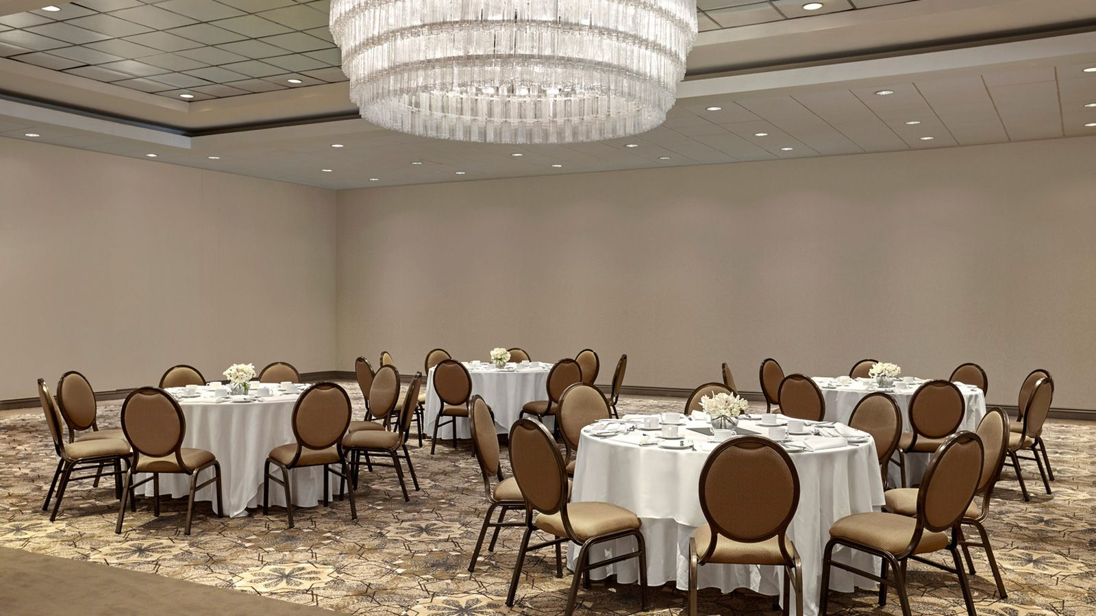 The Guildford Ballroom at our Surrey, BC event space set up for a business meeting.