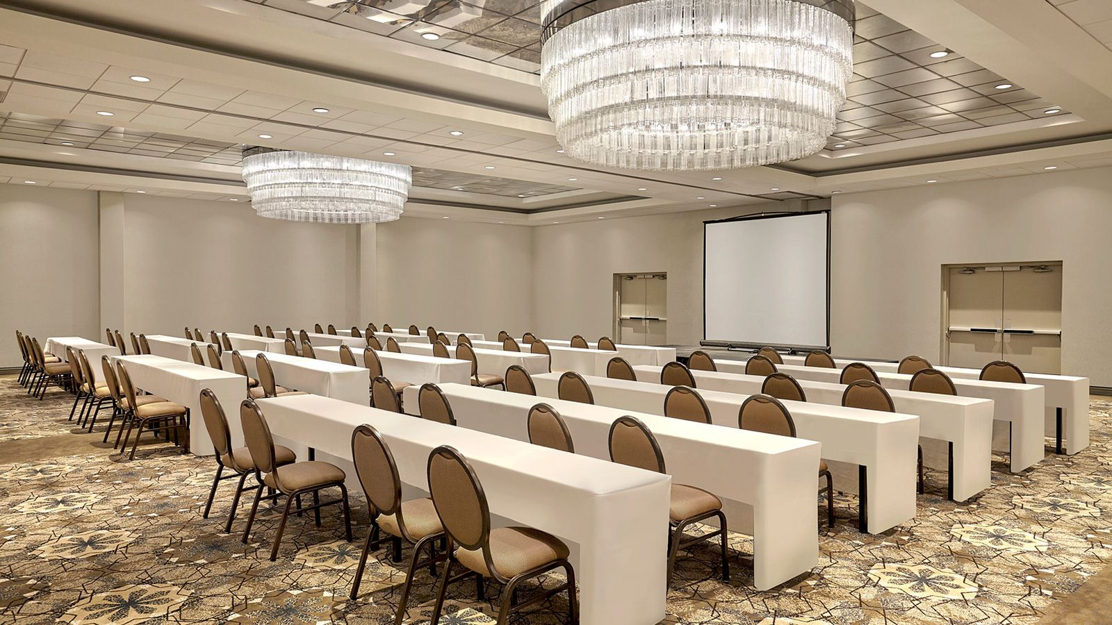 The Guildford Ballroom at our Surrey, BC event space set up for a conference.